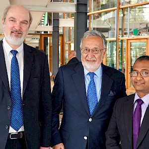 Thomas Schirrmacher and Ahmed Shaheed with Afghanistan's foreign minister Zalmai Rassoul (center) © BQ/Warnecke