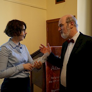 Thomas Schirrmacher in conversation with Prof. Dr. Stephanie Berry, University of Sussex © BQ/Warnecke